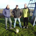 Vlnr. Gert Klijnstra, Wim Rietdijk en Johan Cnossen